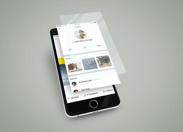 Smartphone App Multilayer Screen Mockup