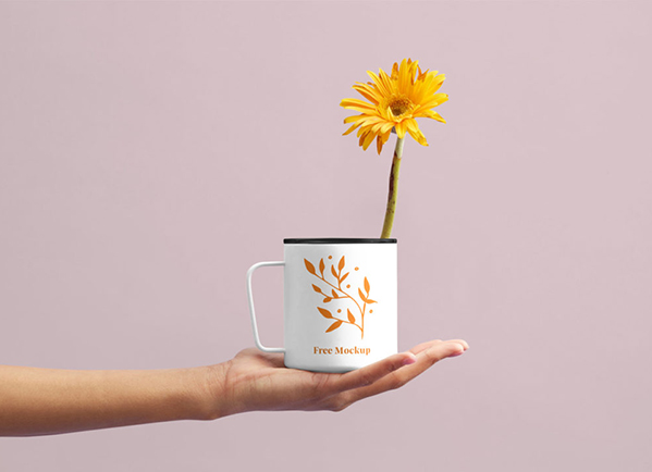 Flower Cup Mockup